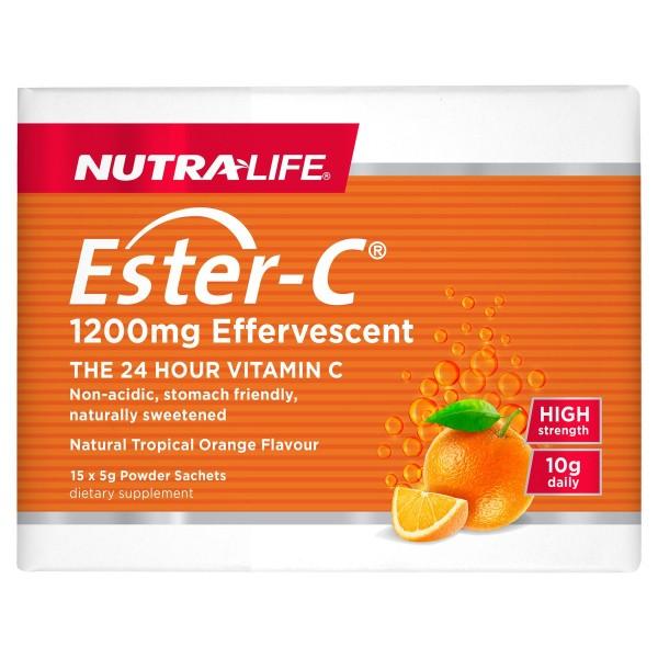 Nutralife Ester C 1200mg Effervescent 15 Sachets