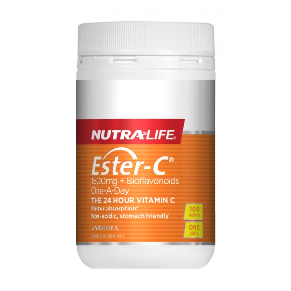 Nutralife Ester C 1500mg + BioFlavonoids 100 Tablets