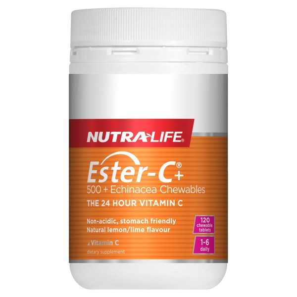 Nutralife Ester C 500mg + Echinacea 120 Chewables