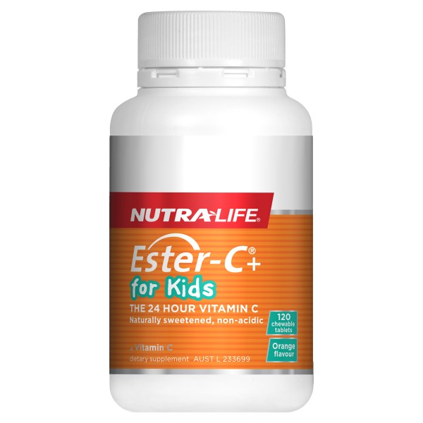 Nutralife Ester C for Kids 120 Chewable Tablets