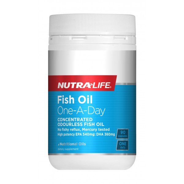 Nutralife Fish Oil One-a-day Concentrated Odourless 90 Capsules
