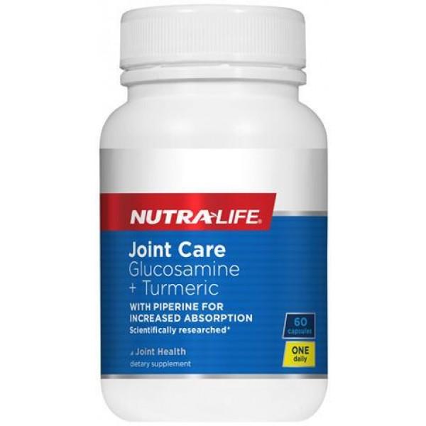 Nutralife Joint Care Glucosamine + Turmeric 60 Capsules