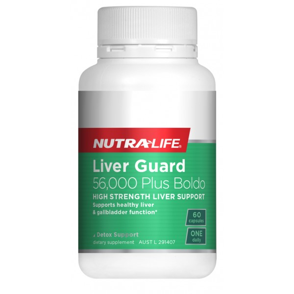 Nutralife Liver Guard Plus Boldo 60 Capsules