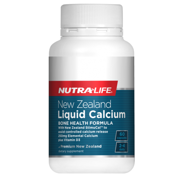 Nutralife NZ Liquid Calcium with StimuCal Plus Vitamin D3 Capsules 60s