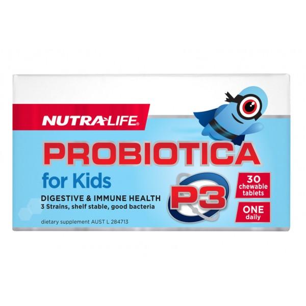 Nutralife Probiotica P3 For Kids 30 Chewable Tablets