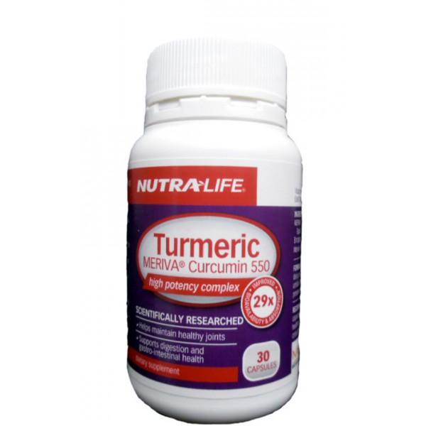 Nutralife Turmeric Meriva Curcumin 30 Capsules