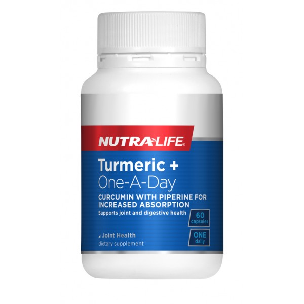 Nutralife Turmeric+ 3000mg One-A-Day 60 Capsules