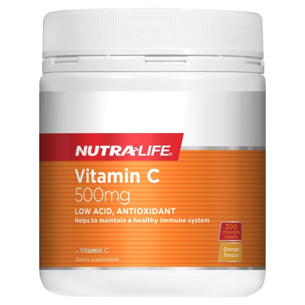 Nutralife Vitamin C 500mg 200 Chewable Tablets