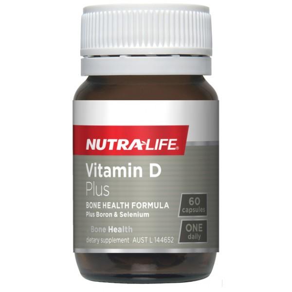 Nutralife Vitamin D3 Plus Boron & Selenium 60 Capsules