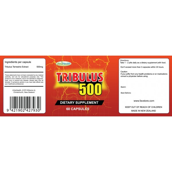 NutraPharm Tribulus 500 60 Capsules