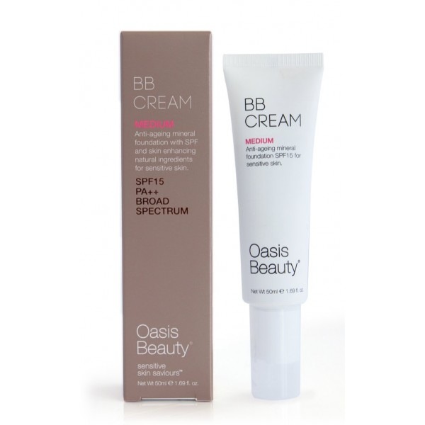 Oasis Beauty BB Cream SPF15 Medium Shade 50ml