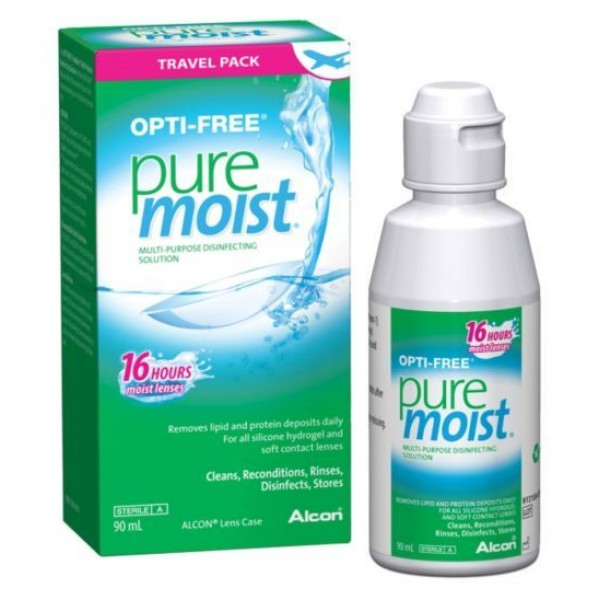 Opti-Free PureMoist 90ml + Lens Case