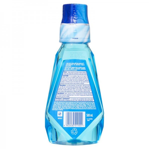Oral B Pro-Health Alcohol Free Mouth Rinse 500ml