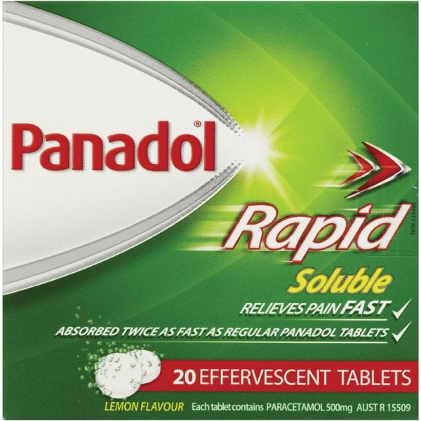 Panadol Rapid Soluble 20 Effervescent Tablets