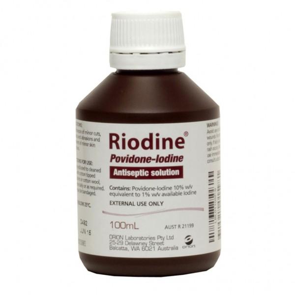 Riodine Povidone-Iodine Antiseptic Solution 100ml