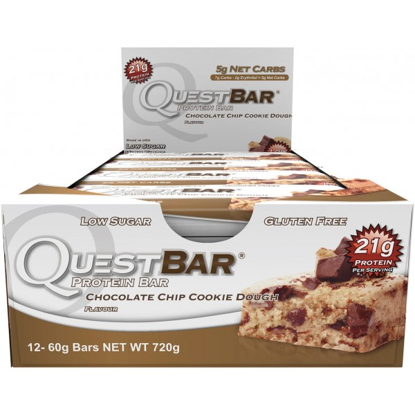 Quest Protein Bar (12 per box) - Chocolate Chip Cookie Dough