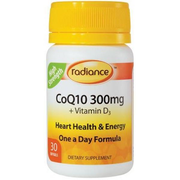 Radiance CoQ10 300mg 30 Capsules