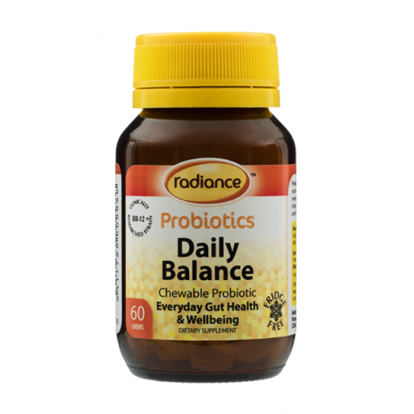 Radiance Probiotics Daily Balance Chewable 60 Tablets