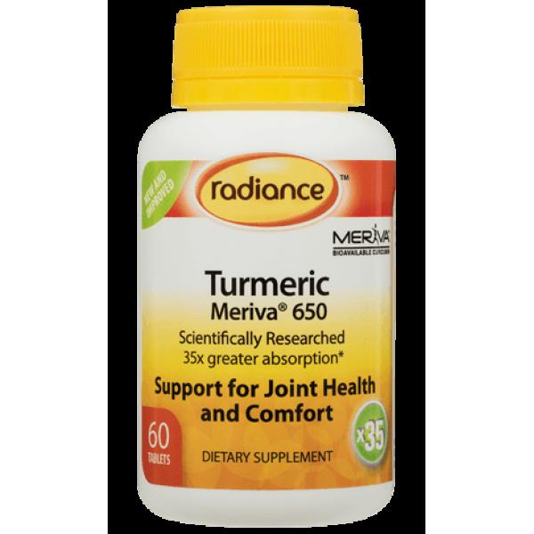 Radiance Turmeric Meriva 650mg 60 Tablets