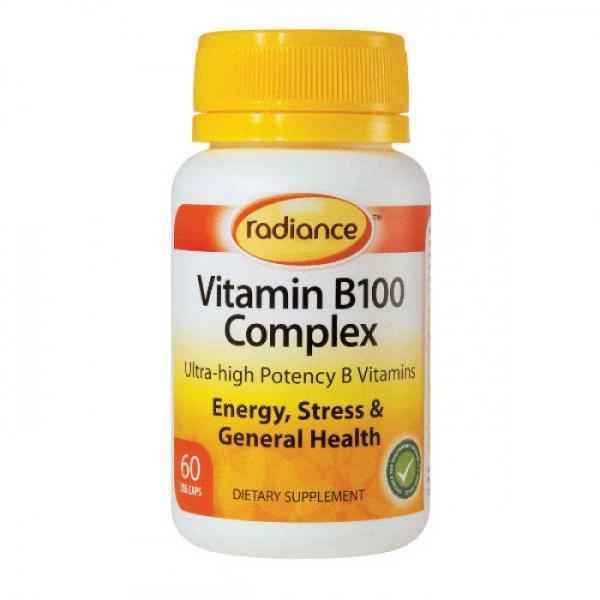 Radiance Vitamin B100 Complex 60 Capsules