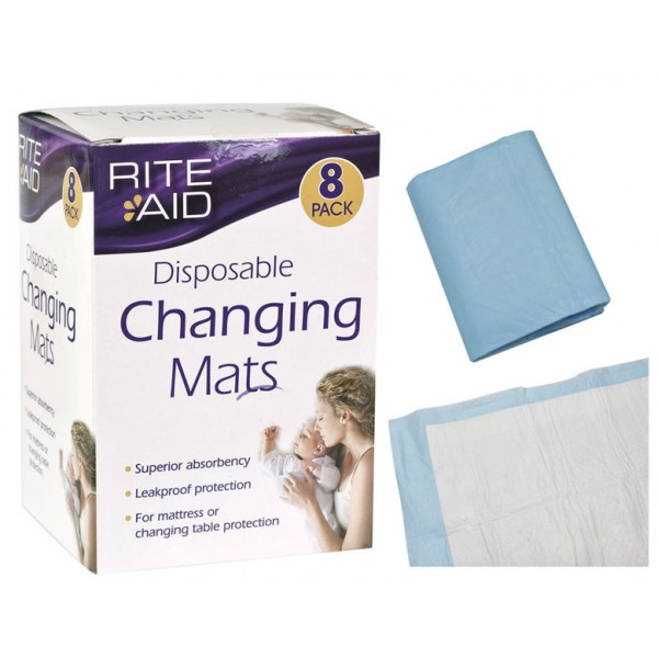 Rite Aid Disposable Changing Mats 8 Pack