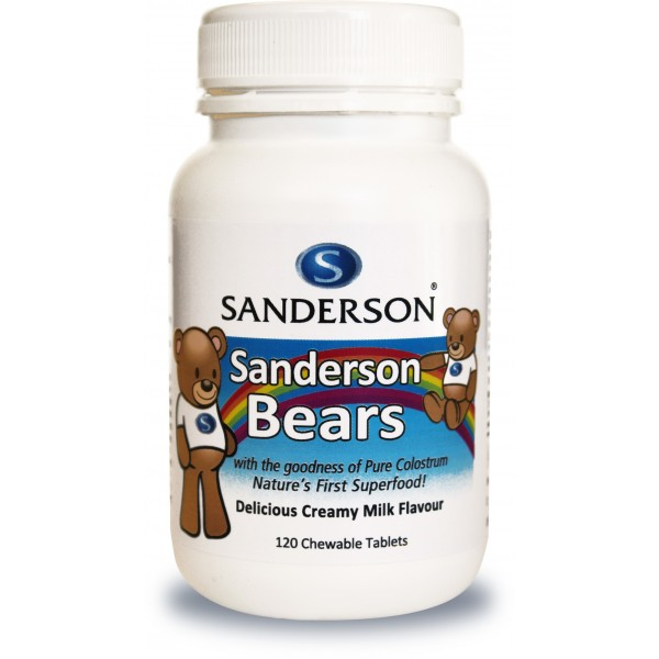 Sanderson Bears Colostrum Chewable 120 Tablets
