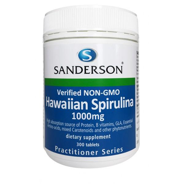 Sanderson Hawaiian Spirulina 1000mg 300 Tablets