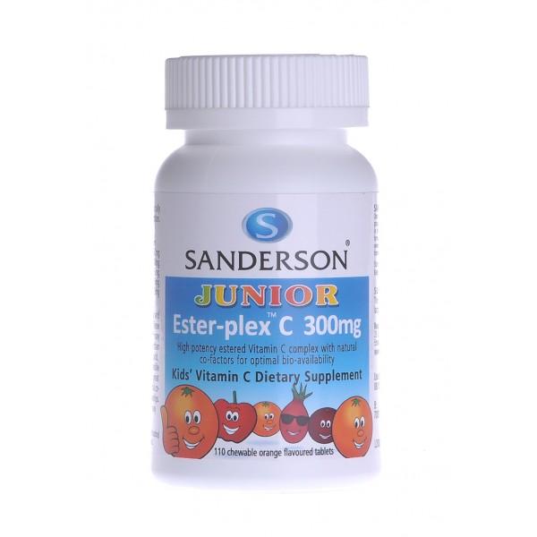 Sanderson Junior Ester-plex C 300mg Orange 110 Chewable Tablets