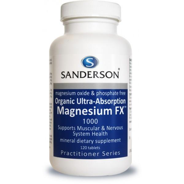 Sanderson Organic Magnesium FX 120 Tablets