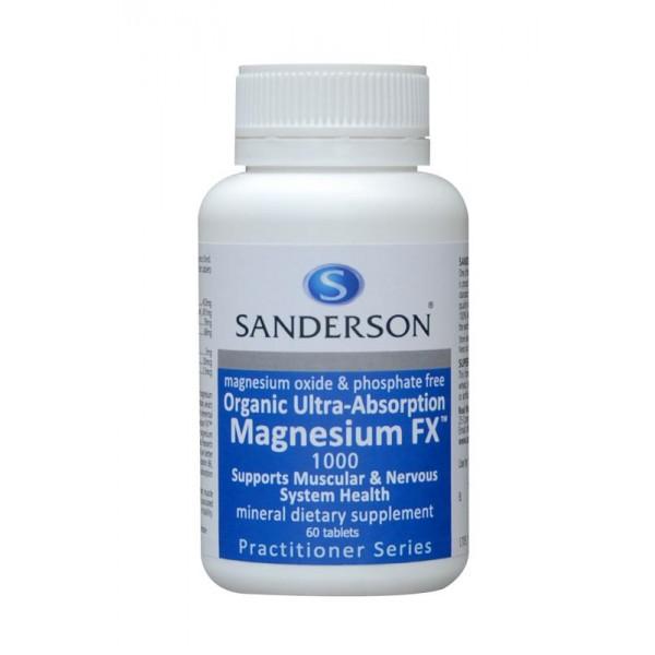 Sanderson Organic Magnesium FX 60 Tablets