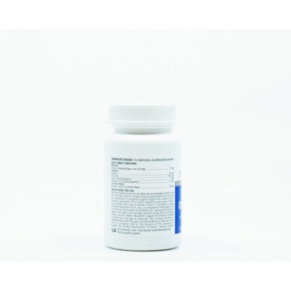Sanderson Superior Organic Iron 100 Tablets