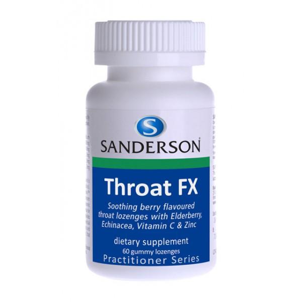 Sanderson Throat FX Gummy Lozenges 60s