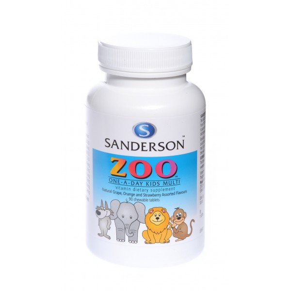 Sanderson Zoo Kids Multi Vitamin Chewable 90 Tablets