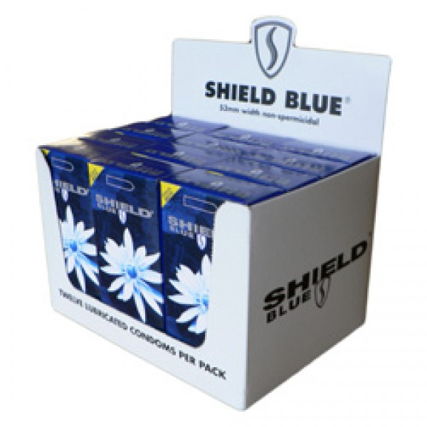 Shield Blue Condoms 53mm Width 12 x 12 Pk