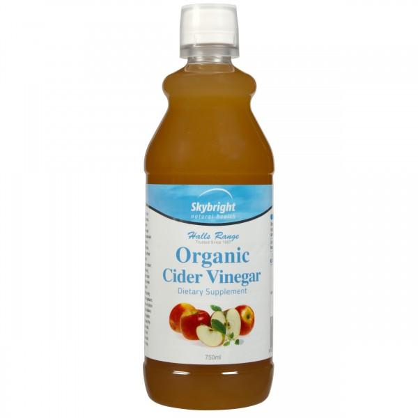 Skybright Halls Range - Organic Apple Cider Vinegar 750ml