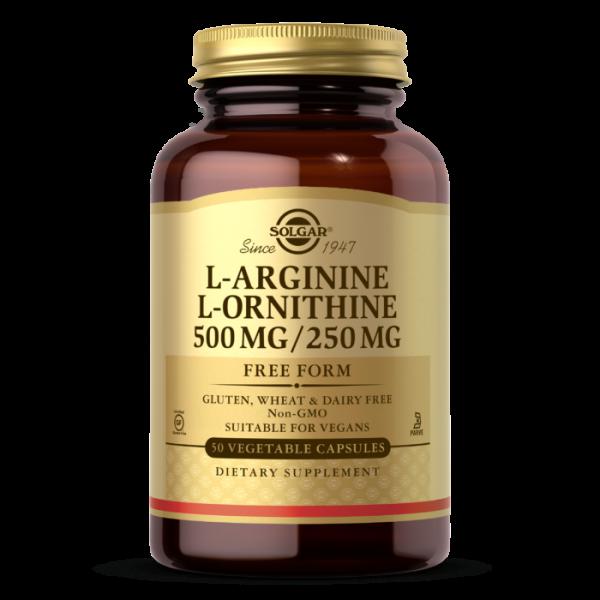 Solgar L-Arginine/L-Ornithine 500/250mg Capsules
