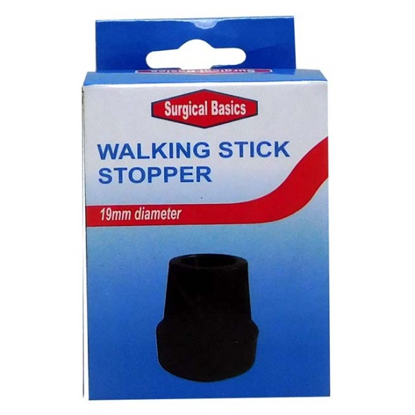 Surgical Basics Walking Stick Stopper Black Colour 19mm