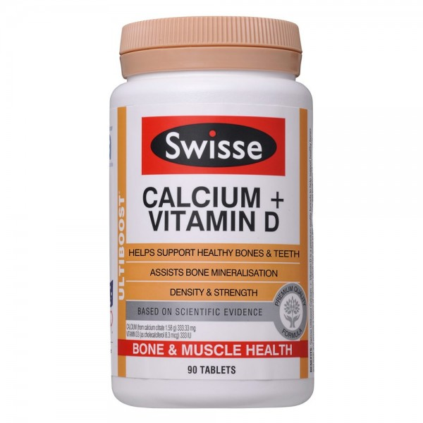 Swisse Calcium + Vitamin D 90 Tablets