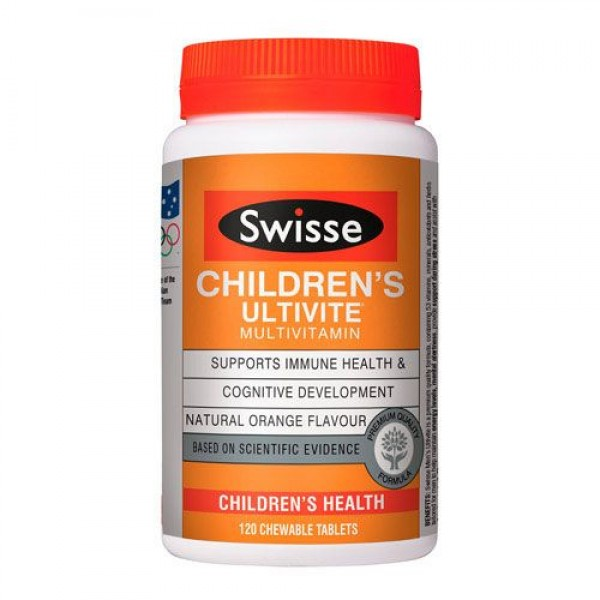Swisse Children's Ultivite Chewable 120 Tablets