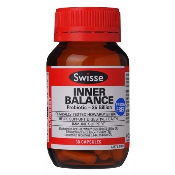 Swisse Inner Balance Probiotic 30 Capsules