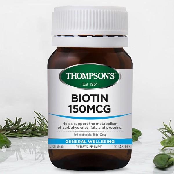Thompson's Biotin 100 Tablets