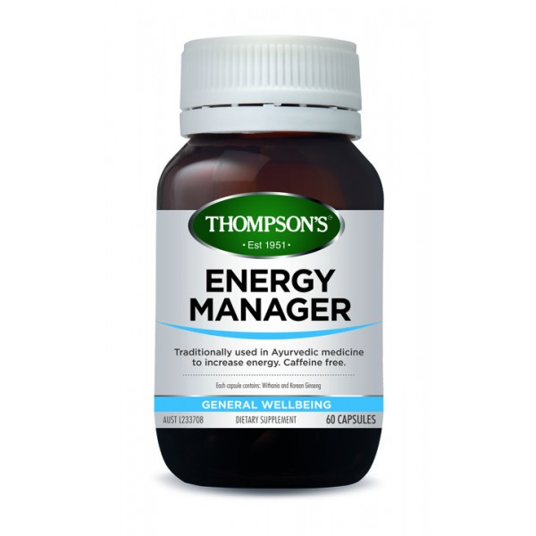 Thompson's Energy Manager 60 Capsules (Product Discontinued)