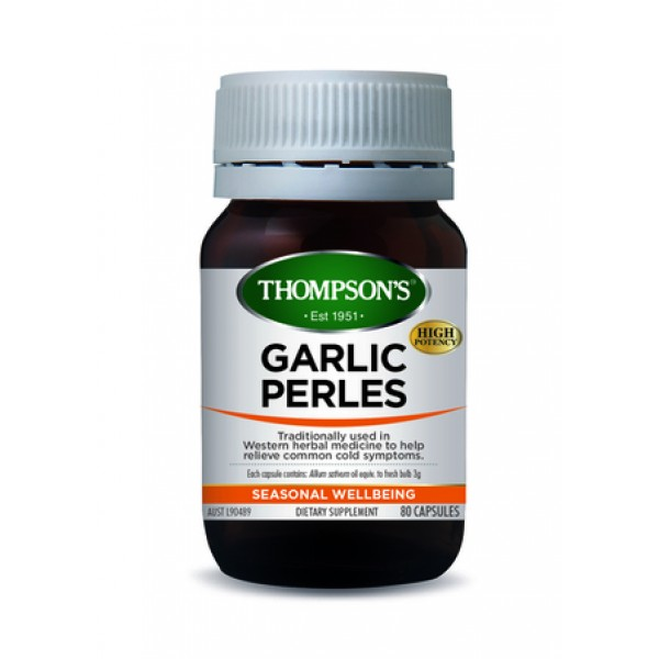 Thompson's Garlic Perles 80 Capsules (Product Discontinued)