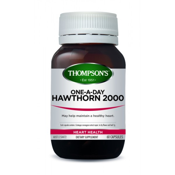 Thompson's Hawthorn 2000 One-A-Day 60 Capsules (Product Discontinued)