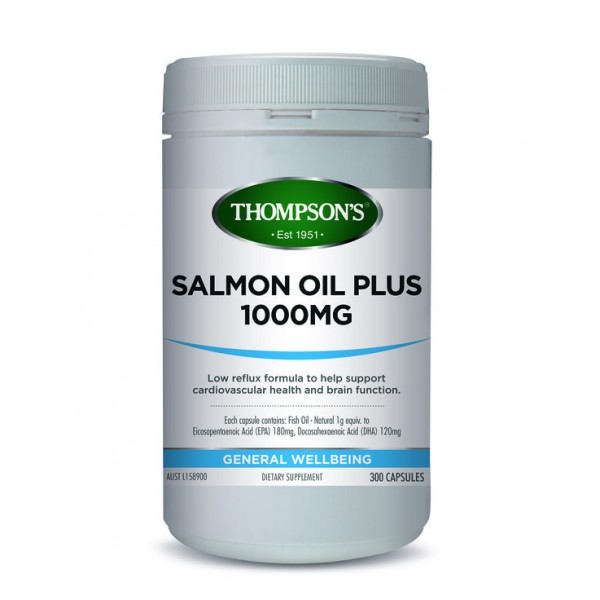 Thompson's Salmon Oil Plus 1000mg 300 Capsules