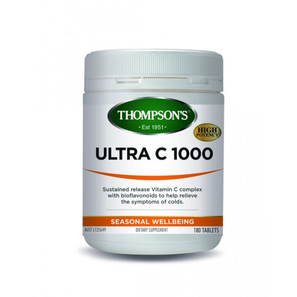 Thompson's Ultra C 1000mg 180 Tablets (Product Discontinued)