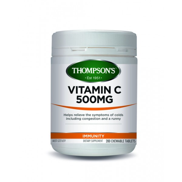 Thompson's Vitamin C 500mg Chewable 200 Tablets (In Store Special)