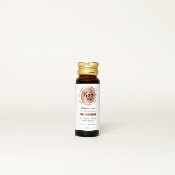 Vida Glow Collagen Elixir Lemon Myrtle & Manuka Honey Flavour 10x30ml bottles