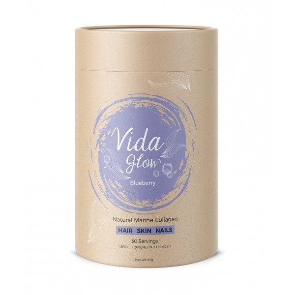 Vida Glow Natural Marine Collagen Blueberry 30 Sachets