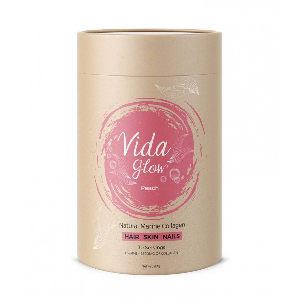 Vida Glow Natural Marine Collagen Peach 30 Sachets
